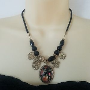 Vintage Goth Glam Necklace